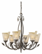 Vaxcel CP-CHU006BW Capri Country Black Walnut Finish 26.5  Wide Chandelier Light