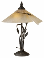 Vaxcel CP-TBU170BW Capri Country Black Walnut Finish 17  Wide Table Lamp