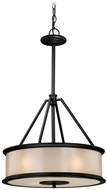 Vaxcel CR-PDU180NB Carlisle Noble Bronze Finish 28.25  Tall Drum Drop Ceiling Lighting