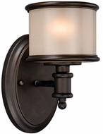 Vaxcel CR-VLU001NB Carlisle Noble Bronze Finish 8  Tall Wall Lamp
