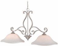 Vaxcel CS-PDD400BN Caspian Traditional Brushed Nickel Finish 16  Wide Pendant Lighting