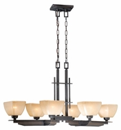 Vaxcel DC-PDU390CZ DesCartes Architectural Bronze Finish 38.5  Wide Kitchen Island Light
