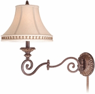 Vaxcel DY-WLS130FP Dynasty Traditional Forum Patina Finish 24.75  Wide Wall Swing Arm Lamp