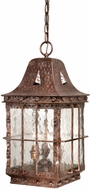 Vaxcel ED-ODD090CI Edinburgh Traditional Colonial Iron Finish 19.5  Tall Outdoor Mini Pendant Light
