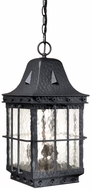 Vaxcel ED-ODD090TB Edinburgh Traditional Textured Black Finish 9  Wide Exterior Mini Lighting Pendant