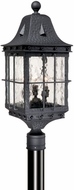 Vaxcel ED-OPU090TB Edinburgh Traditional Textured Black Finish 9  Wide Exterior Post Light