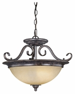 Vaxcel ES-CF35918AZ-B Mont Blanc Aztec Bronze Finish 13.375  Tall Hanging Light Fixture