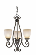 Vaxcel ES-CH35903AZ-B Mont Blanc Aztec Bronze Finish 21.5  Wide Mini Chandelier Light