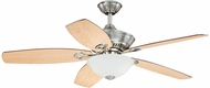 Vaxcel F0001 April Satin Nickel Finish 18.5  Tall Ceiling Fan