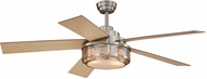 Vaxcel F0002 Chesapeake Satin Nickel Finish 52  Wide Home Ceiling Fan