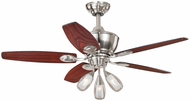 Vaxcel F0008 Morgan Satin Nickel Finish 23  Tall Ceiling Fan