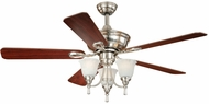 Vaxcel F0009 Nova Satin Nickel Finish 52  Wide Home Ceiling Fan