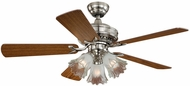 Vaxcel F0010 Orchard Satin Nickel Finish 18.5  Tall Ceiling Fan
