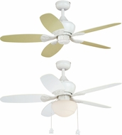 Vaxcel F0036 Alex White Home Ceiling Fan