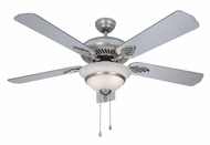 Vaxcel FN52180BN-C Da Vinci Brushed Nickel with Chrome Accent Finish 20.25  Tall Home Ceiling Fans