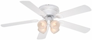 Vaxcel FN52267W-C Zephyr White Finish 13.25  Tall Ceiling Fan