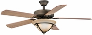 Vaxcel FN52297OR-34 Medallion Oil Rubbed Bronze Finish 12  Tall Ceiling Fan