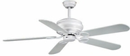 Vaxcel FN52303W Zephyr White Finish 17  Tall Ceiling Fan
