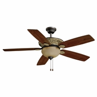 Vaxcel FN52468OR Jasper Country Oil Rubbed Bronze Finish 18  Tall Home Ceiling Fans