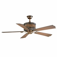Vaxcel FN56306AW Yellowstone Rustic Aged Walnut Finish 18  Tall Home Ceiling Fans