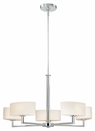 Vaxcel H0001 Allerton Contemporary Chrome 72.5  Tall Halogen Lighting Chandelier