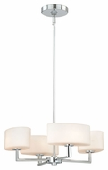 Vaxcel H0002 Allerton Modern Chrome Finish 18  Wide Halogen Mini Chandelier Lamp