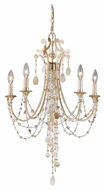 Vaxcel H0003 Anastasia Silver Leaf Finish 32  Tall Mini Candle Chandelier Light