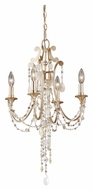 Vaxcel H0004 Anastasia Silver Leaf 16.5  Wide Mini Candle Chandelier Lighting
