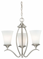 Vaxcel H0010 Sonora Satin Nickel 18  Wide Mini Ceiling Chandelier