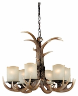 Vaxcel H0016 Yoho Rustic Black Walnut 19.5  Tall Lighting Chandelier