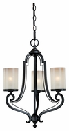 Vaxcel H0017 Elba New Bronze Finish 18  Wide Mini Hanging Chandelier