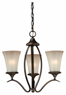 Vaxcel H0021 Sonora Venetian Bronze Finish 18  Wide Mini Lighting Chandelier