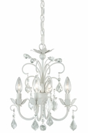 Vaxcel H0034 Ellie Satin White Finish 15.75  Tall Mini Chandelier Light