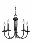 Vaxcel H0045 New England Noble Bronze Finish 19.75  Wide Mini Chandelier Lamp