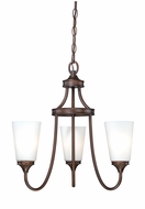 Vaxcel H0051 Lorimer Venetian Bronze Finish 19  Wide Mini Lighting Chandelier