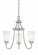Vaxcel H0052 Lorimer Satin Nickel Finish 19.125  Tall Mini Chandelier Lamp