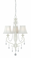 Vaxcel H0060 Bristol Antique Ivory Finish 29  Tall Mini Chandelier Light