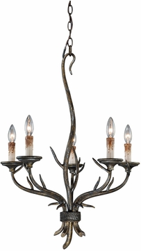 Vaxcel Htwo Monterey Rustic Autumn Patina Finish Two Wide Mini Chandelier Lighting Vxl H