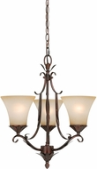Vaxcel H0075 Coricelli Royal Bronze Finish 20.5  Tall Mini Chandelier Light