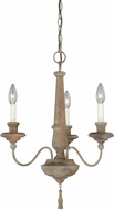 Vaxcel H0078 Lucca Vintage Wood Finish 18.5  Wide Mini Chandelier Light