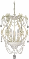 Vaxcel H0145 Maile Antiqued White Mini Lighting Chandelier