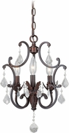 Vaxcel H0157 Perouges Weathered Patina Mini Chandelier Light