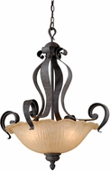 Vaxcel HB-PDU240OI Hapsburg Traditional Olde Iron Finish 24  Wide Hanging Pendant Light