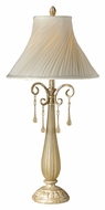 Vaxcel JM-TBU150PP Jasmine Traditional Phoenician Platinum Finish 15.63  Wide Table Lamp