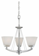 Vaxcel KD-CHU003CH Kendall Chrome Finish 20  Wide Mini Chandelier Lamp
