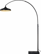 Vaxcel L0006 Bacio Instalux Contemporary Oil Rubbed Bronze LED Arc Floor Lamp Light