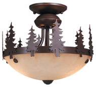 Vaxcel LK55512BBZ-C Yosemite Country Burnished Bronze Finish 8.25  Tall Fan Light Fixture