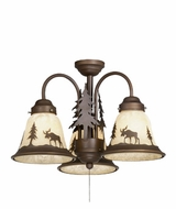 Vaxcel LK55616BBZ-C Yellowstone Country Burnished Bronze Finish 12.5  Tall Fan Light Fixture