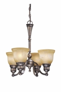 Vaxcel LS-CHU004PZ LaSalle Parisian Bronze Finish 19.5  Tall Mini Ceiling Chandelier