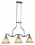 Vaxcel LS-PDD370PZ LaSalle Parisian Bronze Finish 36.5  Wide Island Light Fixture